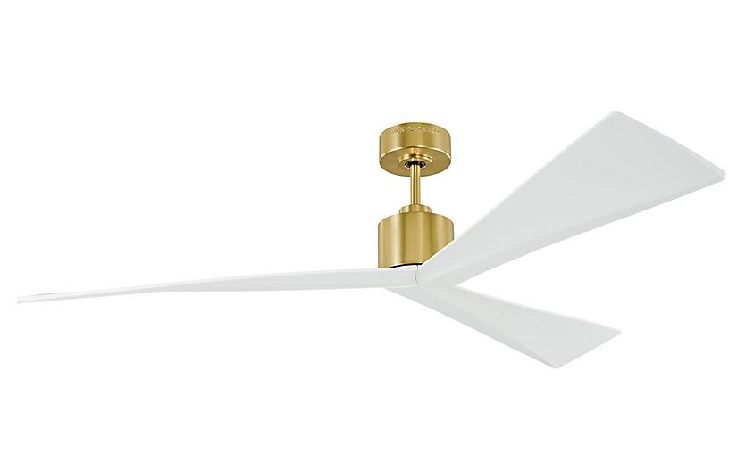 Monte Carlo Adler Ceiling Fan, Burnished Brass