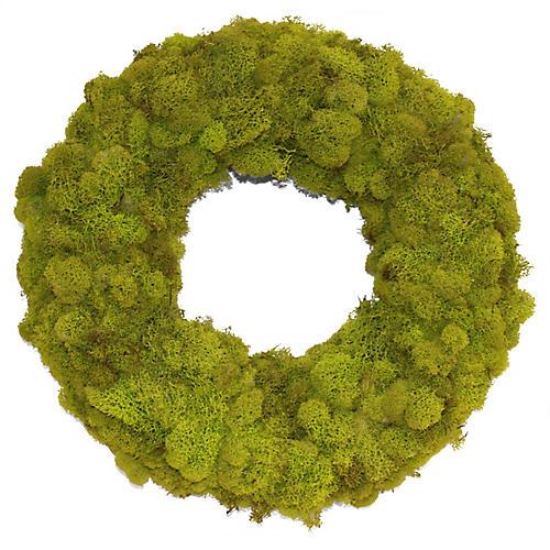 "14"" Reindeer Moss Wreath, Dried"