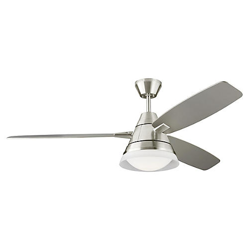 Nord Ceiling Fan, Brushed Steel