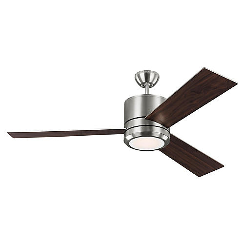 Vision Ceiling Fan, Dark Walnut/Steel