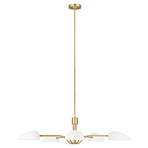 Jane 5-Light Chandelier, Matte White
