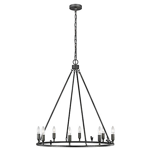 Caroline 8-Light Chandelier, Aged Iron