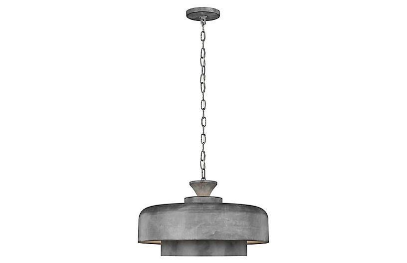 Haymarket Pendant, Weathered Galvanized
