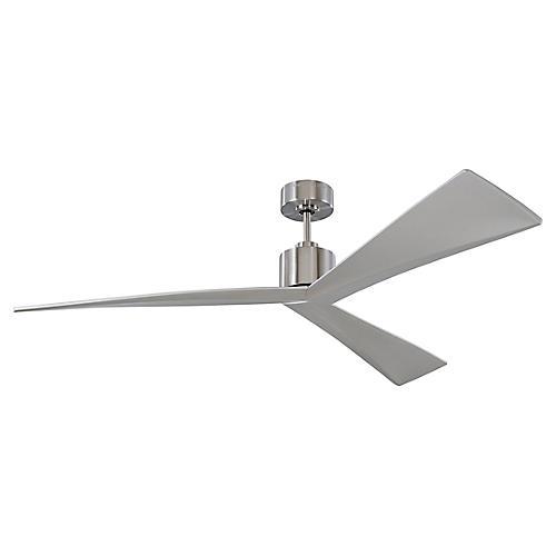 Adler Ceiling Fan, Brushed Steel
