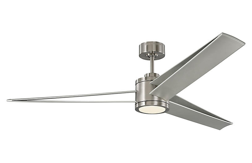 Armstrong Ceiling Fan, Brushed Steel