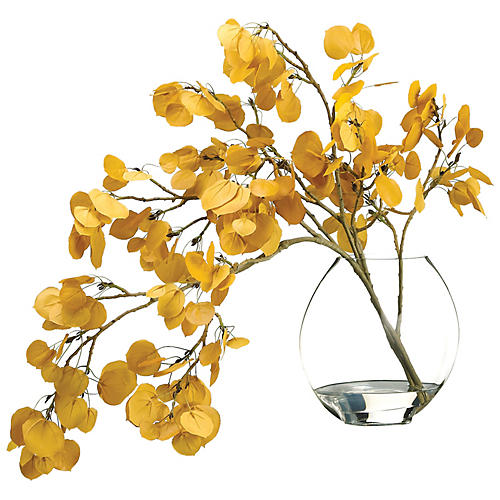 "29"" Aspen Leaf Spray w/ Vase, Faux"