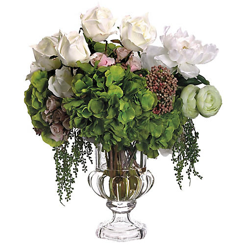 "21"" Ranunculus & Peony Arrangement, Faux"