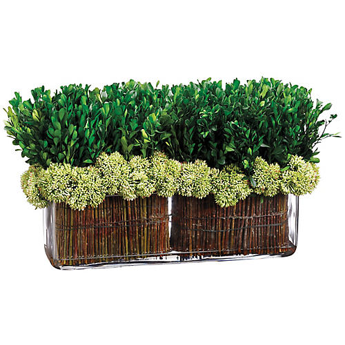 "18"" Boxwood Arrangement, Faux"