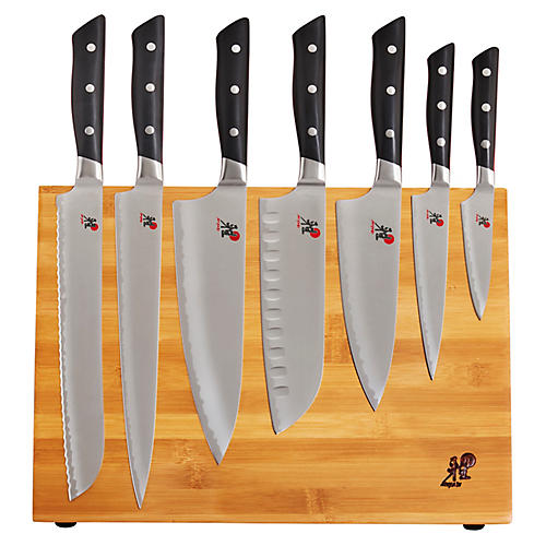 Evolution 10-Pc Knife Block Set, Silver/Multi