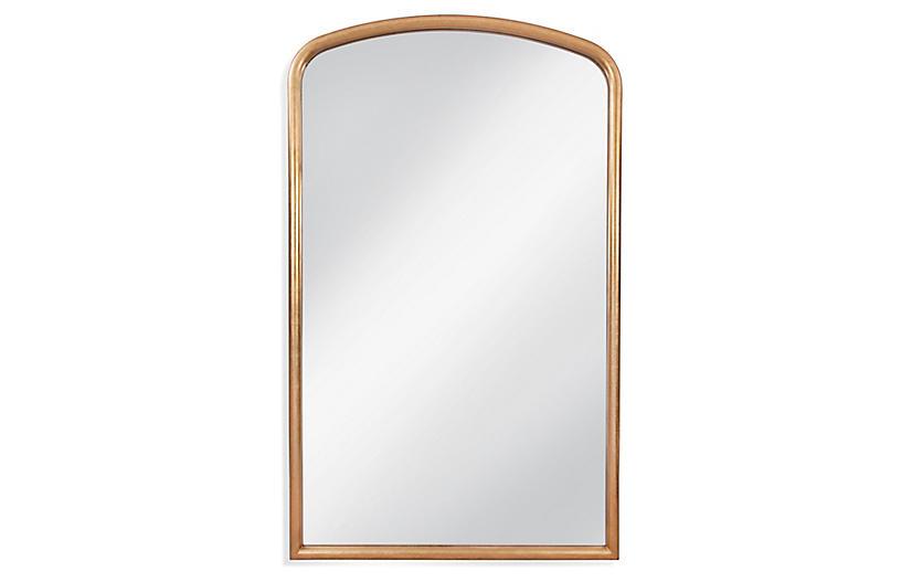 Brookings Leaner Floor Mirror, Gold