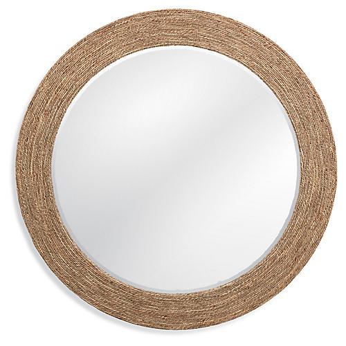 Kuna Round Wall Mirror, Natural