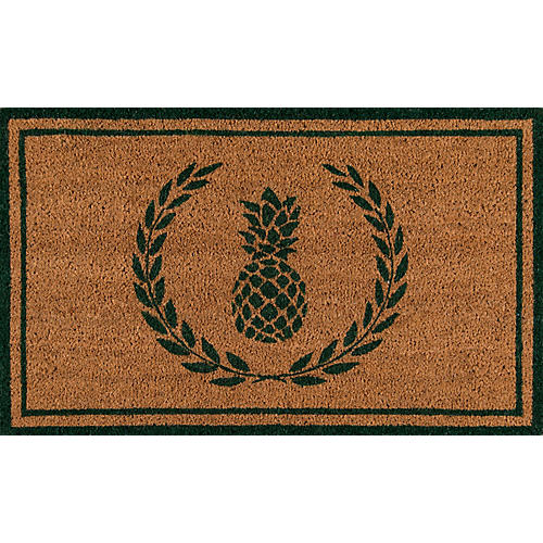 "1'6""x2'6"" Pineapple Doormat, Green"