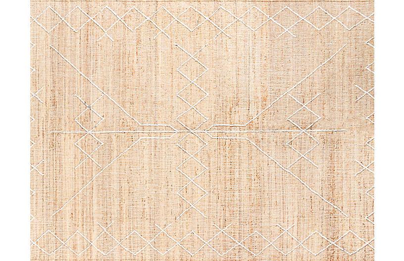 Argan Kabara Handwoven Rug, Natural