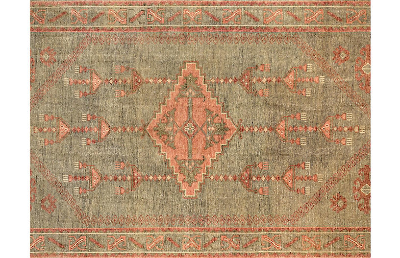 Kouang Batucar Hand-Knotted Rug, Sage