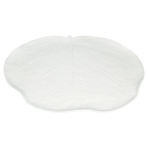 Leaf Melamine Dinner Plate, White