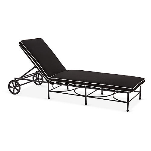 Frances Chaise Black White 4 Left One Kings Lane Outdoor