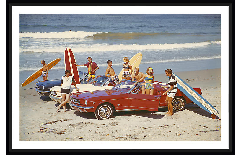 Tom Kelley, Friends with Surfboards in Car