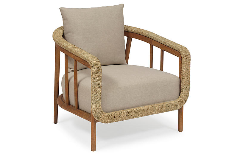 La Jolla Accent Chair, Praline/Taupe