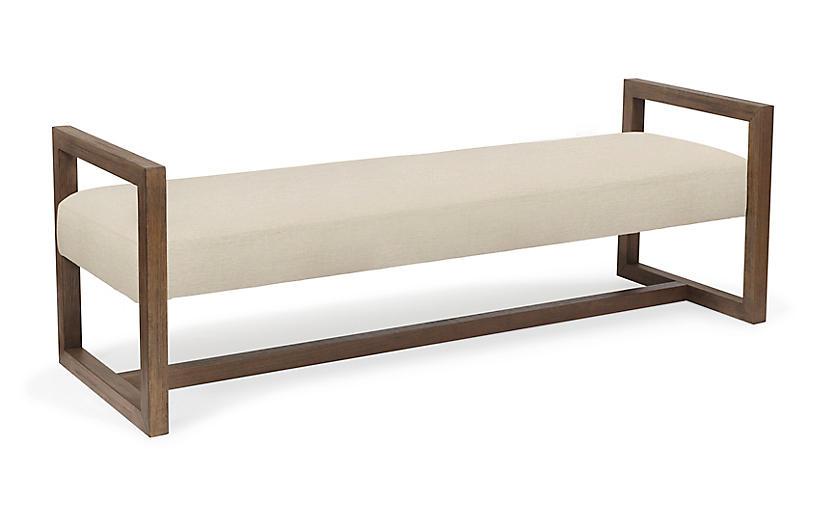 Wilson Bench, Pecan/Ivory