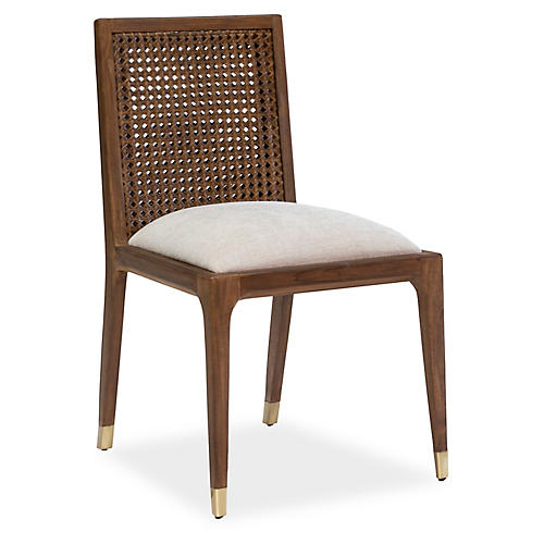 Lido Side Chair, Beige Crypton