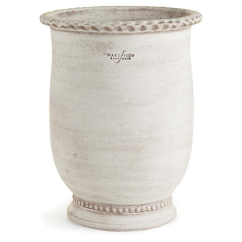 "14"" Pisa Outdoor Planter, White Ash"