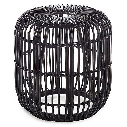 Lila Garden Stool, Black