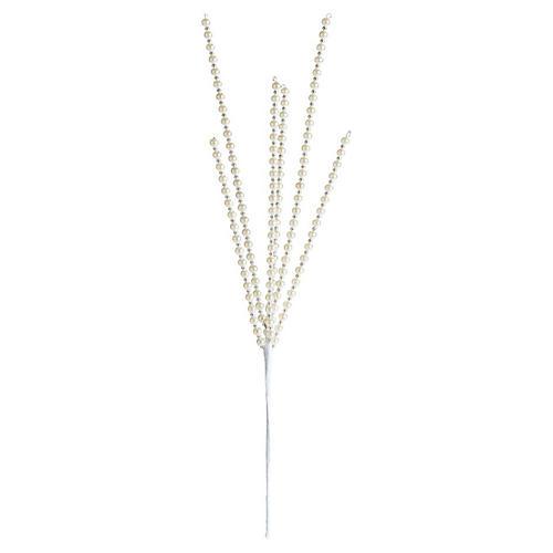 Pearl Bead Ornamental Pick, White