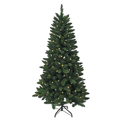 LED-Lit Pine Tree, Faux