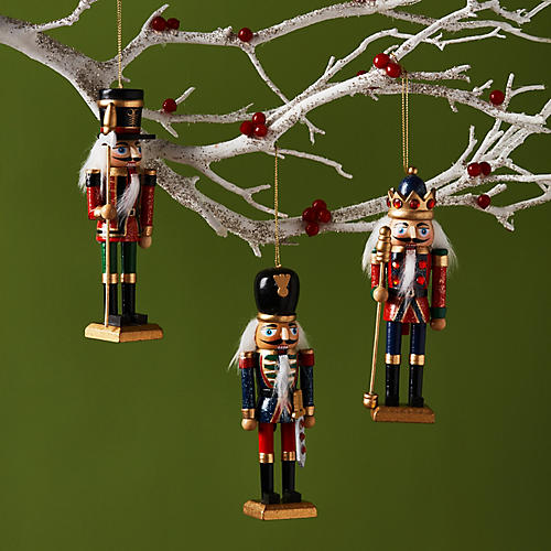 Asst. of 3 Hungry Nutcracker Ornaments, Red/Multi