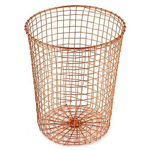 "15"" Bosworth Wastebasket, Copper"