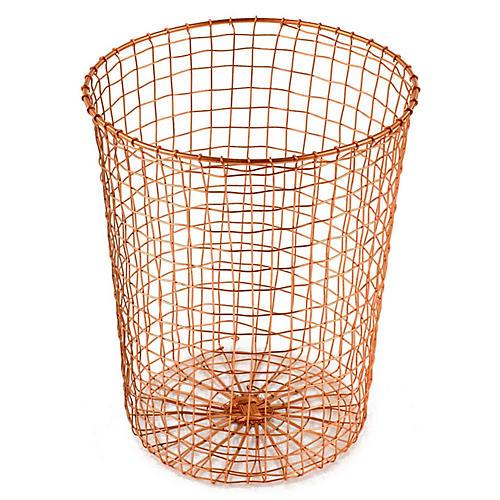 "15"" Bosworth Wastebasket, Copper"