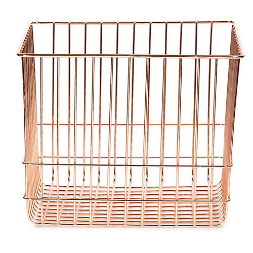 "12"" Lawton Large Storage Basket, Copper"