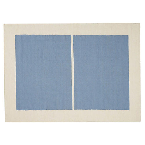 Nashville Sobro Rug, Light Blue/Ivory