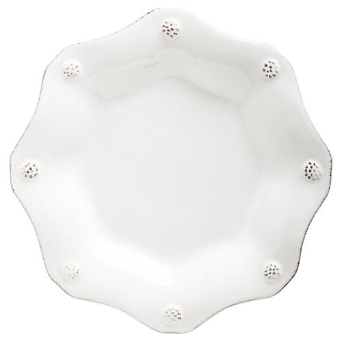 Berry & Thread Scalloped Tea Plate, White