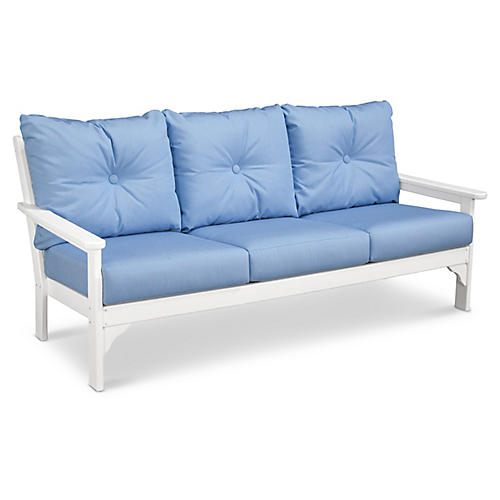 Vineyard Sofa, Air Blue Sunbrella