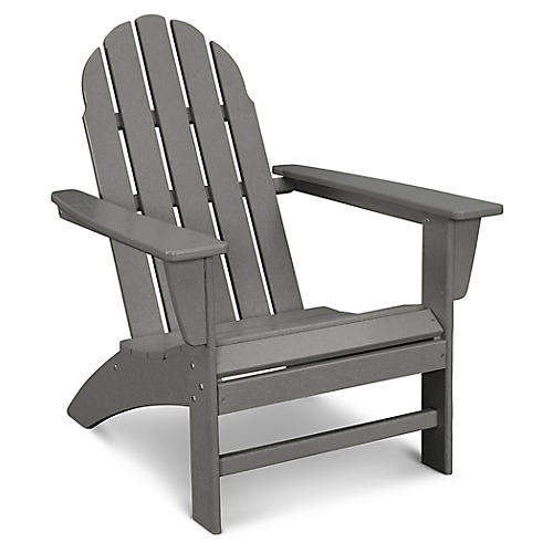 Vineyard Adirondack Chair, Slate Gray