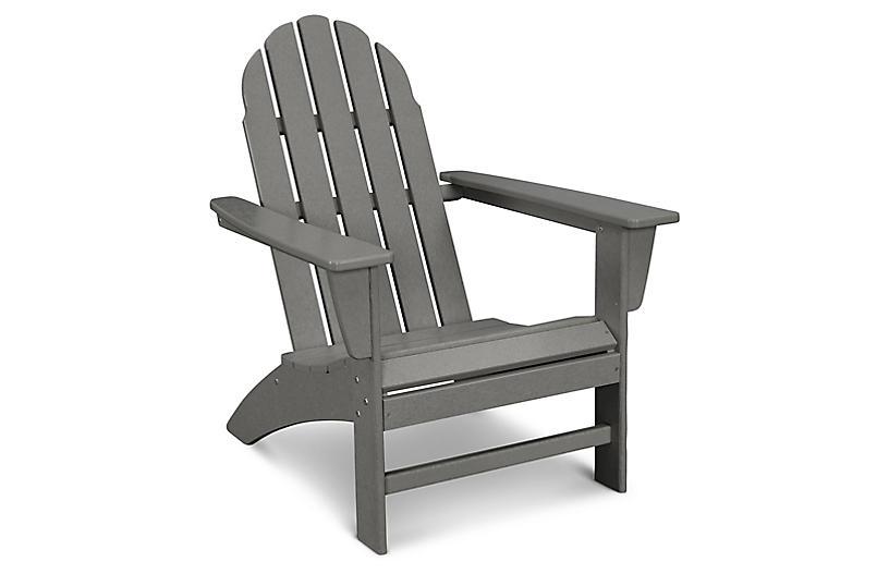 Vineyard Adirondack Chair, Slate Gray