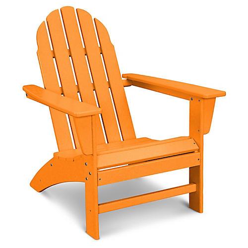 Vineyard Adirondack Chair, Tangerine