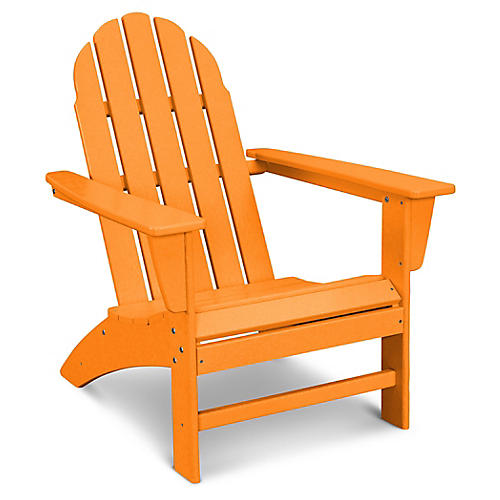 Vineyard Adirondack Chair, Tangerine