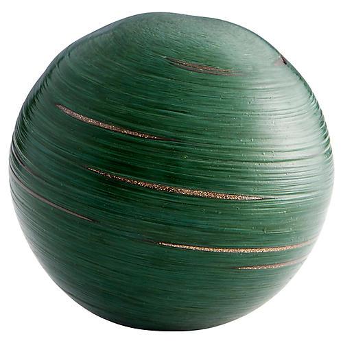 "4"" Shamrock Decorative Objet, Emerald"