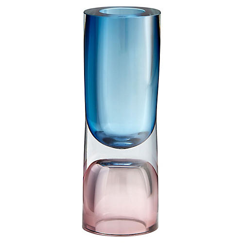 "12"" Majeure Large Vase, Blue/Plum"