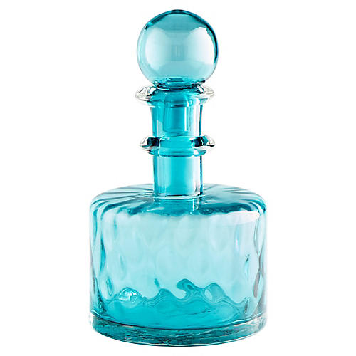 "14"" Decadent Decorative Small Decanter, Blue"