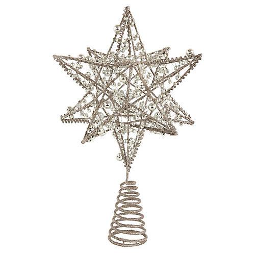 Wire Star Tree Topper, Silver
