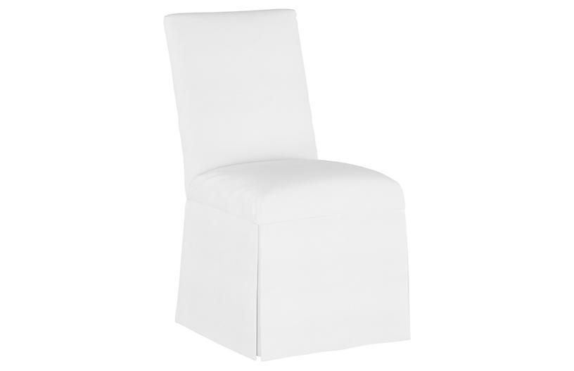 Owen Slipcover Side Chair, White