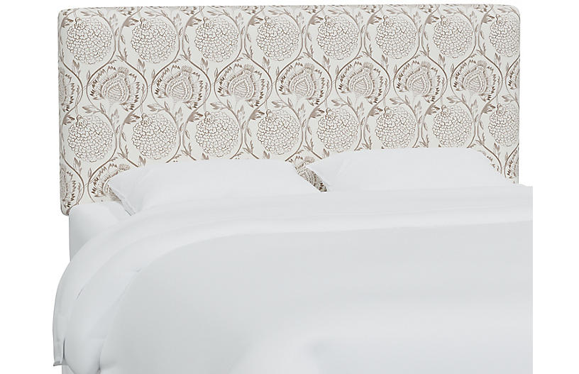 Novak Headboard, Ranjit Floral Brown