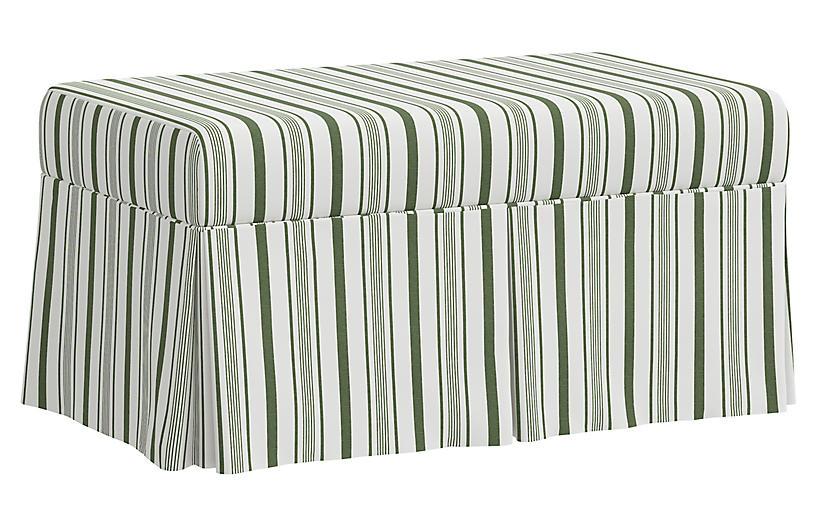 Hayworth Storage Bench, Luli Stripe