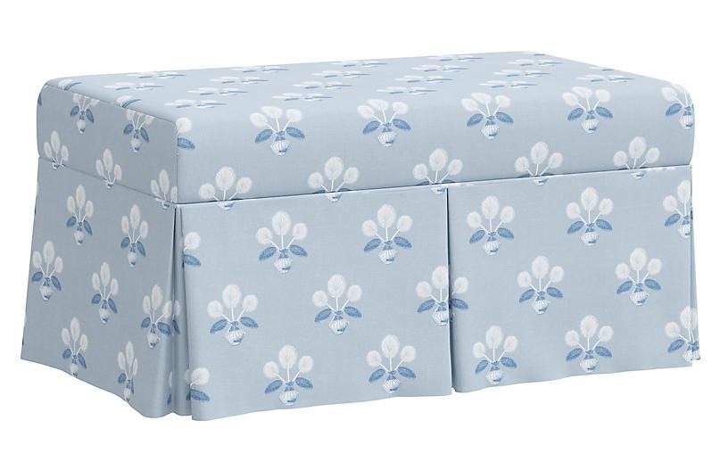 Hayworth Storage Bench, Block Vase Floral