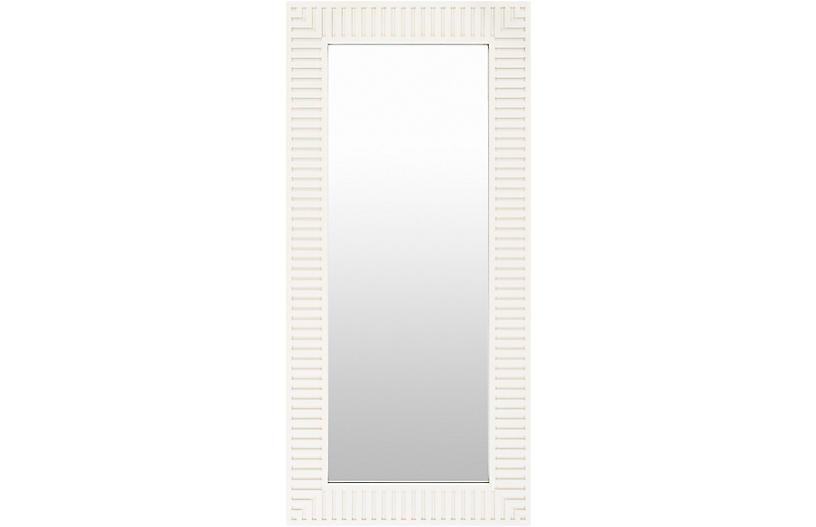 Luann Floor Mirror, White