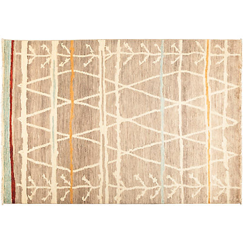"6'2""x8'10"" Rabat Rug, Brown"