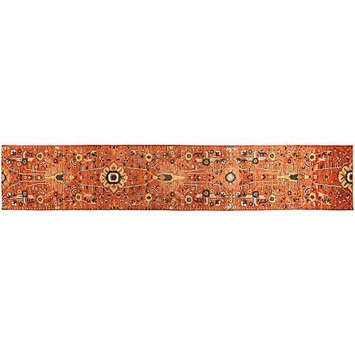 "2'9""x15'7"" Serapi Runner, Red"